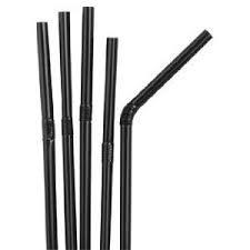 Black Flexi Straws 5inch x 250