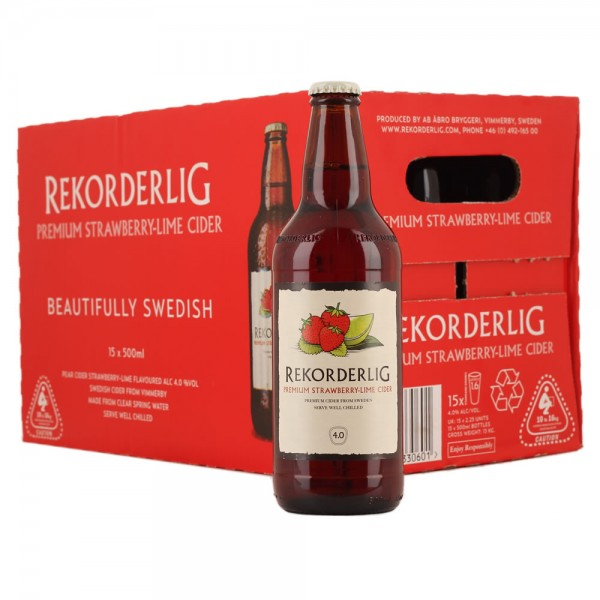 Rekorderlig Strawberry & Lime 8 x 500ml