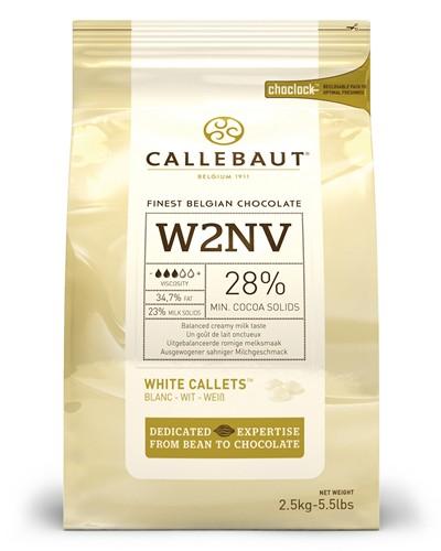 Callebaut White Chocolate Pistoles 2.5kg