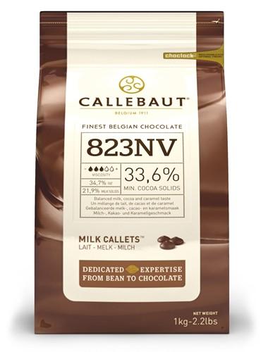 Callebaut Milk Chocolate Pistoles 2.5kg
