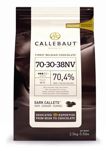 Callebaut 70% Dark Chocolate Pistoles 2.5kg