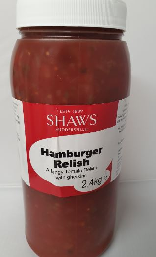 Shaws Burger Relish 2.45g