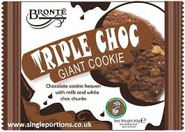 Bronte Giant Triple Choc Giant Cookie 18 x 60g