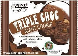 Bronte Giant Triple Choc Giant Cookie 18 x 60g