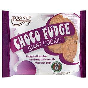Bronte Giant Chocolate Fudge Cookie 18 x 60g