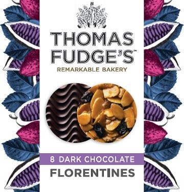 Fudges Dark Chocolate Florentines 8 Pack