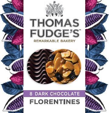 Fudges Dark Chocolate Florentines 8 Pack
