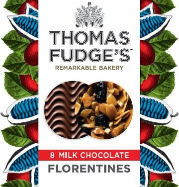 Fudges Milk Chocolate Florentines 8 Pack