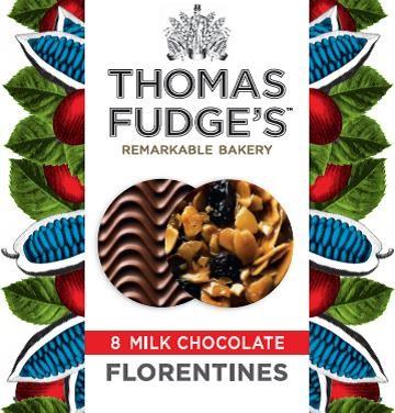 Fudges Milk Chocolate Florentines 8 Pack