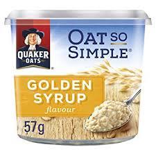 Quaker Golden Syrup Porridge Pot 8 x 57g