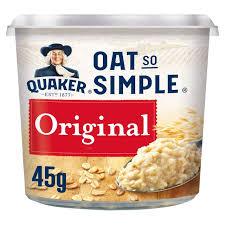 Quaker Original Porridge Pot 8 x 45g
