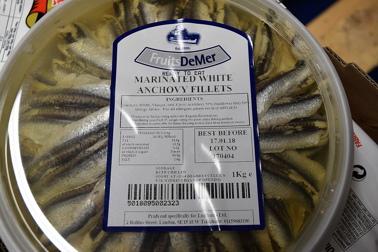Marinated Anchovies 1kg