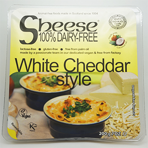 Sheese Vegan Dairy Free White Cheddar Style Cheese 6 x 200g