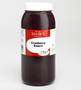 Shaws Cranberry Sauce 2.5kg