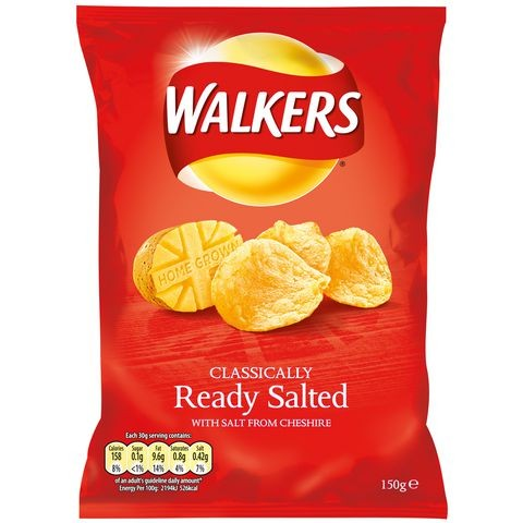 Walkers Ready Salted 32 x 32.5g