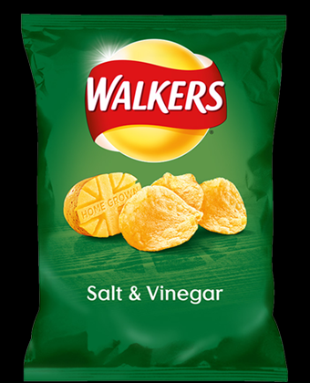 Walkers Salt and Vinegar 32 x 32.5g