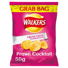 Walkers Grab Bag Prawn Cocktail Crisps 32 x 50g