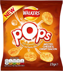 Walkers Pops Cheese & Bacon 24 x 23g