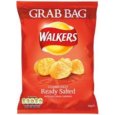Walkers Grab Bag Ready Salted Crisps 32 x 50g
