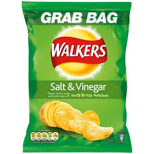 Walkers Grab Bag Salt & Vinegar Crisps 32 x 50g