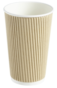 Kraft Triple Walled Cups 16oz x25