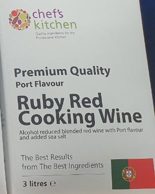 Cooking Ruby Wine (Port) 3ltr