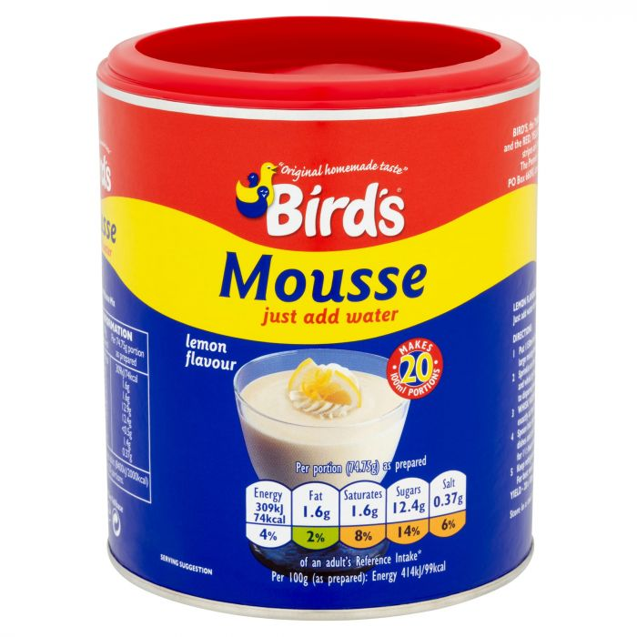 Birds Lemon Mousse 20 Portions