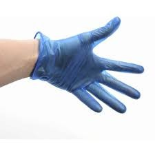 Blue Vinyl Gloves 100 x Large