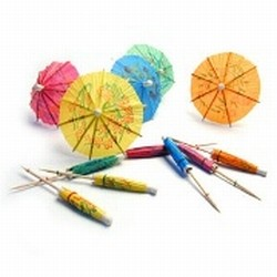 Plastico Cocktail Parasols x 144