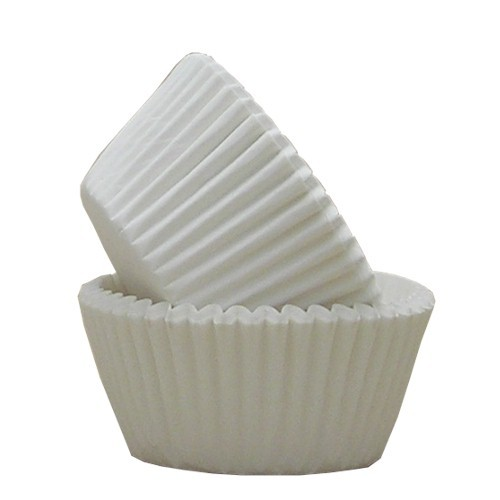 White Muffin Cases x250