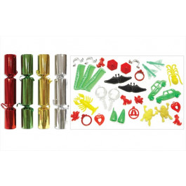 Assorted Plain Foil Christmas Crackers 10