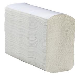 White Z Fold Hand Towels 1 Ply x3000