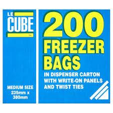 Le Cube Freezer Bags x 200