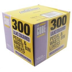Le Cube Pedal Bin Liners Lilac x 300