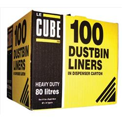 Le Cube Dustbin Liners x100