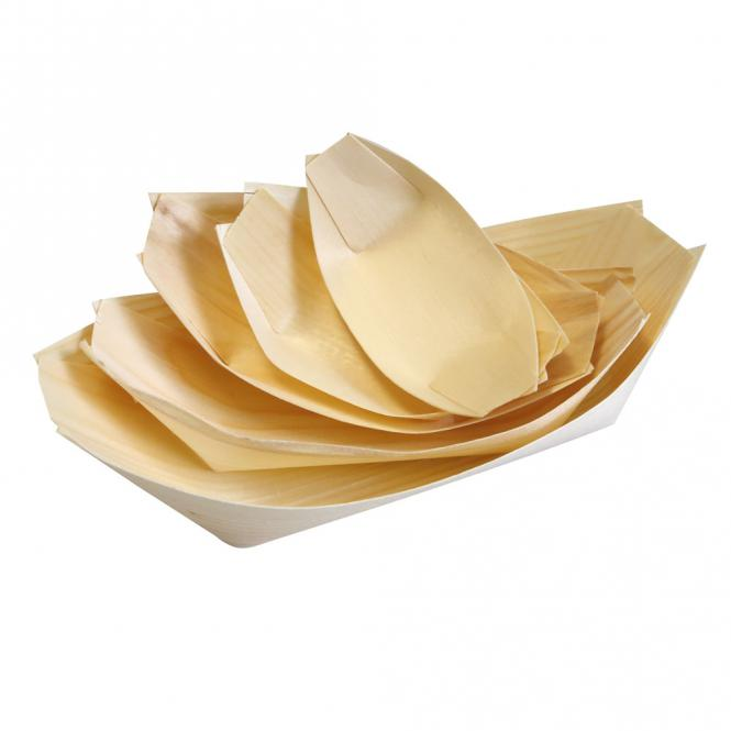 Wooden Serving Boats x50
