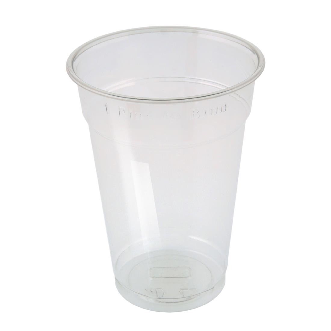 Disposable Pint Glasses Fill To Brim x 50