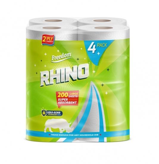 Kitchen Towel Rhino 4 Roll x 6