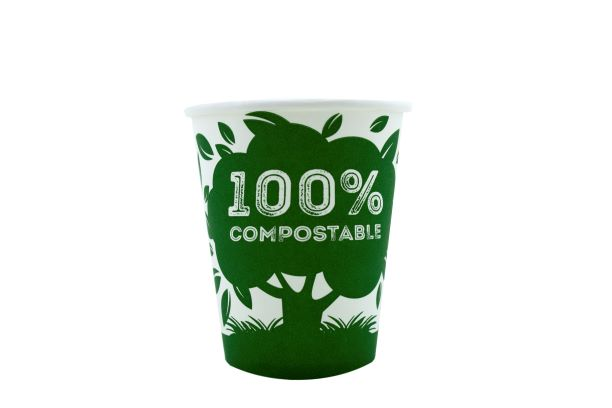 100% Compostable Water Cups 6oz x 50