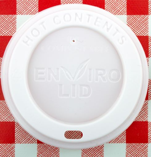 100% Compostable 8oz Coffee Cups Lids x 100