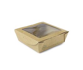 Vegware Compostable Kraft Medium Window Boxes x 300