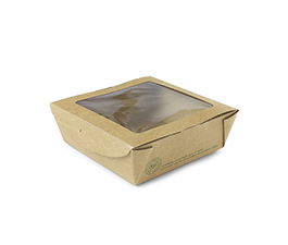 Vegware Compostable Kraft Medium Window Boxes x300
