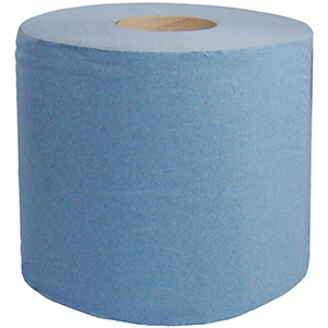 Staples 2 Ply Blue Centrefeed Rolls 150m x 170mm x6