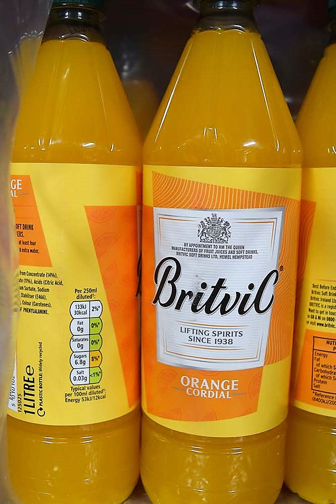 Britvic Orange Cordial ltr