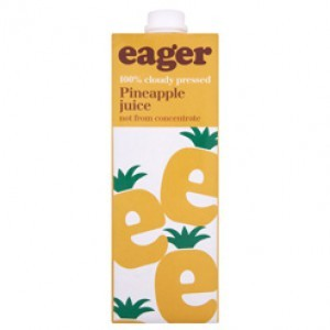 Eager Pineapple Juice Not From Concentrate 8 x  1ltr