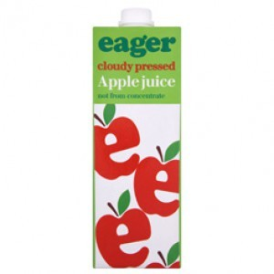 Eager Apple Juice Not From Concentrate 8 x 1ltr