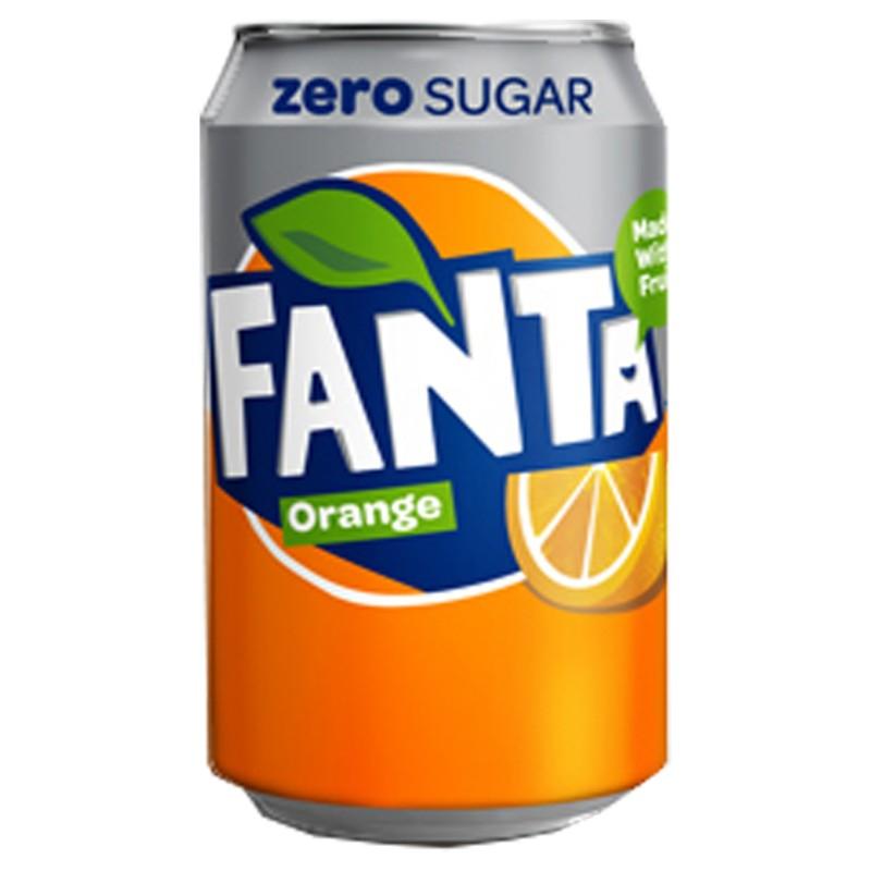 Fanta Orange Zero Cans 24 x 330ml
