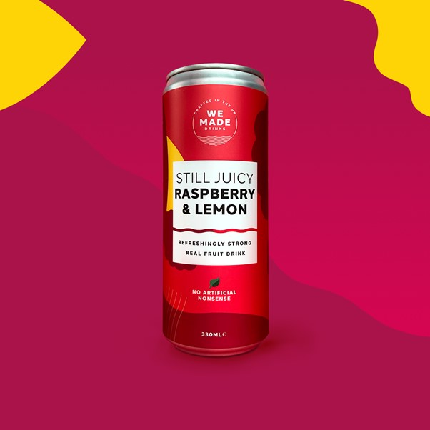 We Made Drinks Raspberry & Lemon Cans 12 x 330ml