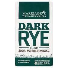 Marriages Dark Rye Flour 1kg