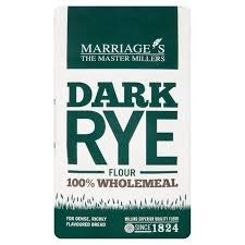 Marriages Dark Rye Flour 1kg